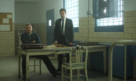 FBI agents Holden Ford (Jonathan Groff, right) and his partner Bill Tench (Holt McCallany) in Mindhunter Season Two.