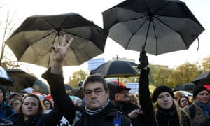 People protest in Poland against abortion laws