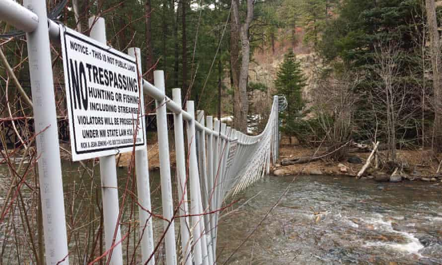A fence across the Pecos river in New Mexico.