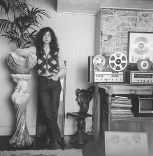 Jimmy Page at home, January 1970, UK
