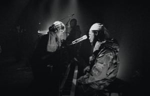Fugees during rehearsald fro an MTV performance. 'It's one of the few times where I felt invisible as a photographer', remembered Eddie Otchere. 'I was completely free to compose, think through every shot and wait comfortably for the decisive moment to emerge.'