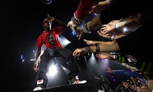 Dizzee Rascal performs to a fawning crowd – after his videos such as I Luv U had sprung to prominence on Channel U.
