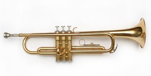 A trumpet on a white background
