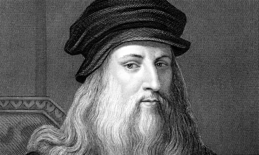 A 19th-century engraving of Leonardo.