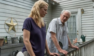 Alison Eastwood as Iris and Clint Eastwood as Earl in The Mule.