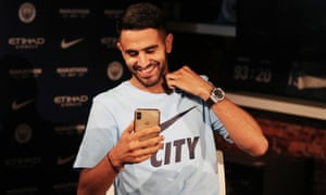 Riyad Mahrez is happy to have signed for Manchester City.