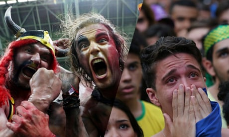 Belgium fans celebrate as Brazilians are left in tears by World Cup defeat – video