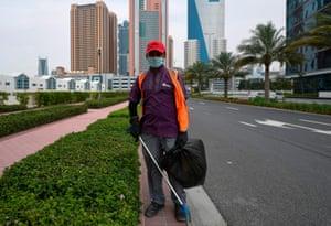 Dubai, United Arab Emirates: Arjun Shrestha, cleaner