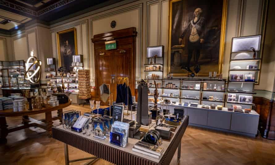 The gift shop at the Freemasons' Hall in Covent Garden.