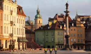 After the second world war, Warsaw's Old Town was meticulously rebuilt using many of the original bricks and decorative elements.