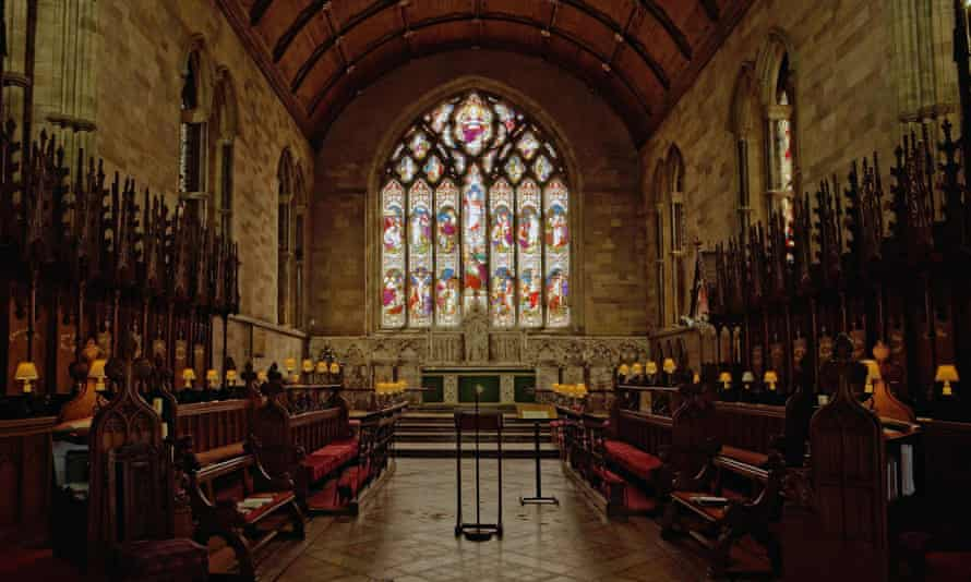 Interior of St Asaph Cathedral, Denbighshire