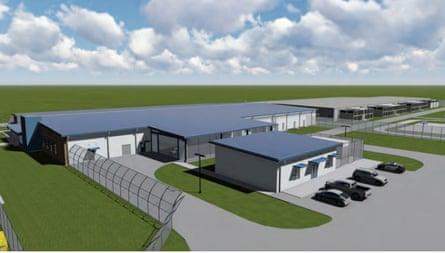 Proposed detention center at Prairieland, Texas.