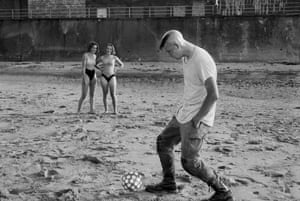 Whitley Bay, June 1989, from the series Writing in the Sand, by Sirkka-Liisa Konttinen
