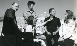 Nikos and Barbara Hadjikyriakos-Ghika with John Craxton, Patrick Leigh Fermor and Joan Fermor, in 1958.