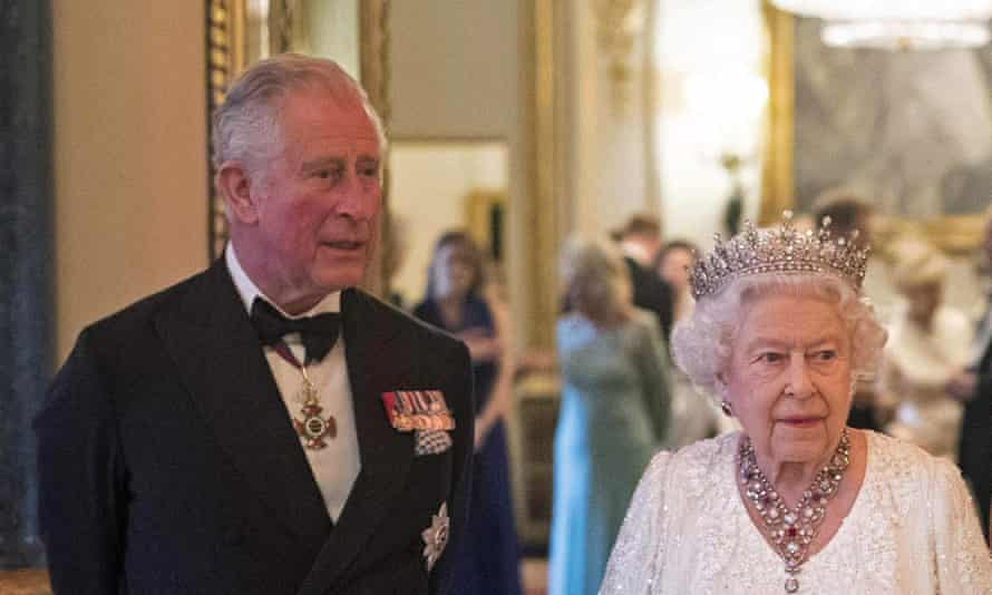 Prince Charles with Queen Elizabeth II