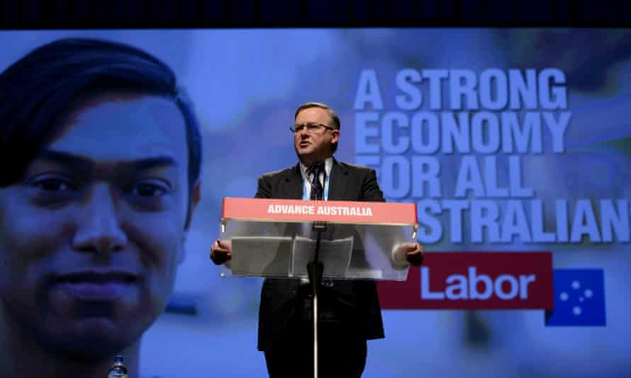 Labor frontbencher Anthony Albanese speaks at the 2015 ALP National Conference will be held at the Melbourne Convention Centre in Melbourne, Friday, July 24, 2015. The conference which is expecting 2000 delegates is the first for leader Bill Shorten and will run through the weekend. (AAP Image/Tracey Nearmy) NO ARCHIVING