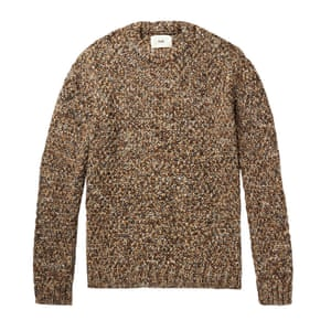 Brown chunky knit, £130, by Folk, from mrporter.com.