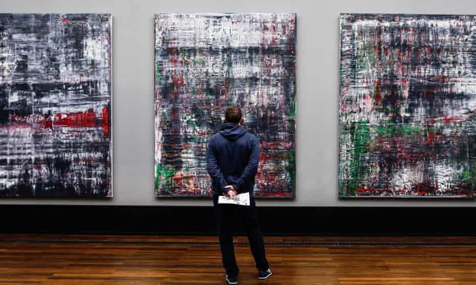 Birkenau Cycle by Gerhard Richter on display in the Alte Nationalgalerie in Berlin.