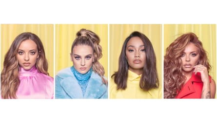 Mix and match: (from left) band members Jade Thirlwall, Perrie Edwards, Leigh-Anne Pinnock and Jesy Nelson. Hair by Aaron Carlo; make-up by Adam Burrell; stylist Stephanie Wilson; assistant Dipika Chauhan.