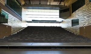The interior of Rem Koolhaas's Casa da Música in Porto.