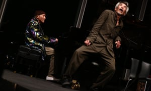 Cecil Taylor (left) with dancer Min Tanaka at the Whitney Museum of American Art, April 14, 2016, as part of Open Plan.