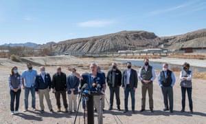 John Katko, a Republican from New York, addresses the press in El Paso.