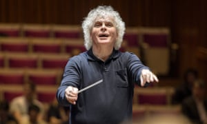 Sir Simon Rattle of the Berlin Philharmonic.