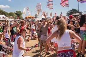 Friday's festivalgoers warm up