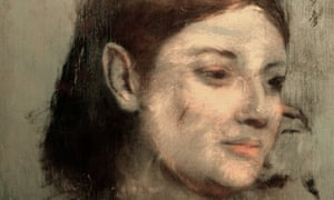 The hidden face beneath Degas' Portrait of a Woman.