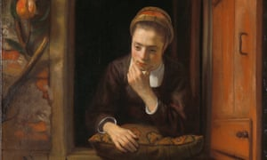 Maes's masterpiece ... Girl at a Window 1653-5.