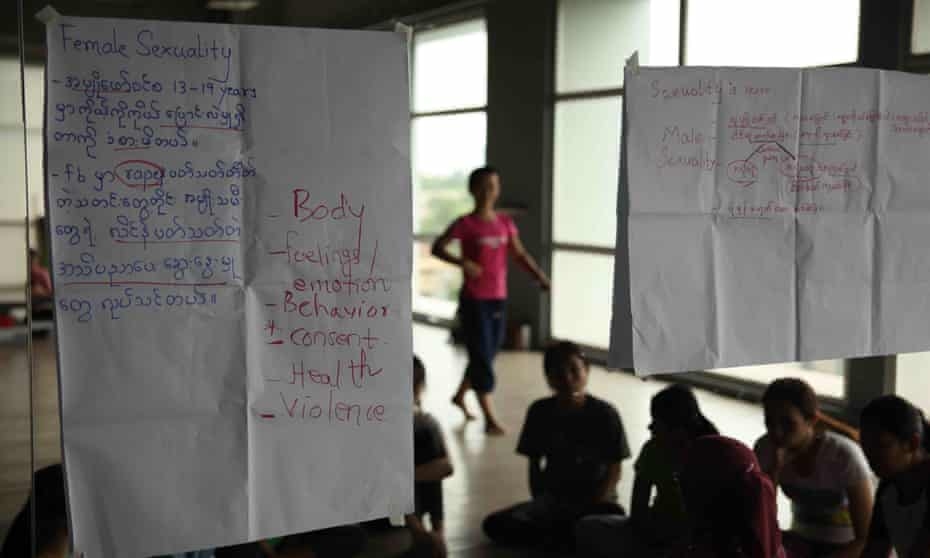 The classes explore gender roles, reproductive health, relationships and gender-based violence