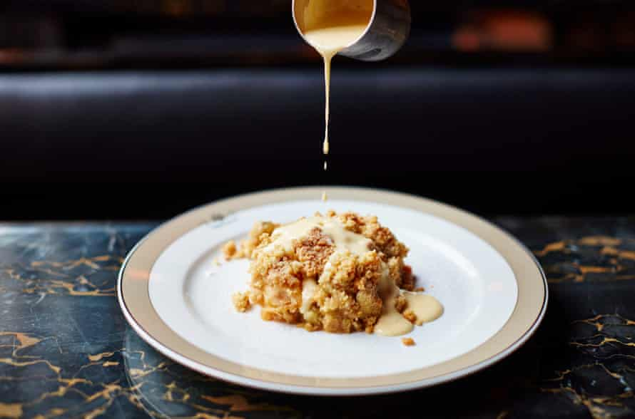 The Wolseley's fruit crumble.