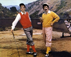 Gould as 'Trapper' McIntyre (right) with Donald Sutherland's Hawkeye in M*A*S*H. Photograph: Allstar/20TH Century Fox