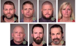 Booking images of some of the people arrested at the Malheur national wildlife refuge.