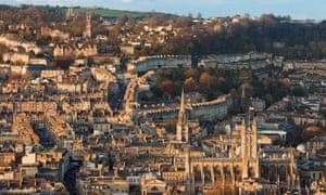 The city of Bath, View from Beechen Cliff, Bath, England