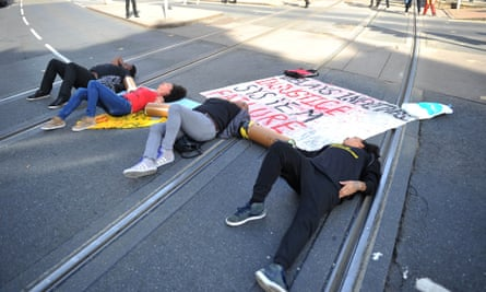 Activists in Nottingham shut down part of the city centre tram and bus network during the Black Lives Matter protest on 5 August.