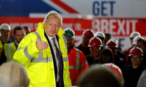 Boris Johnson campaigning in Middlesbrough.