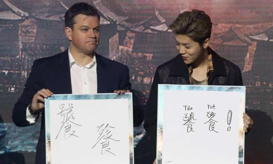 Matt Damon promoting The Great Wall.