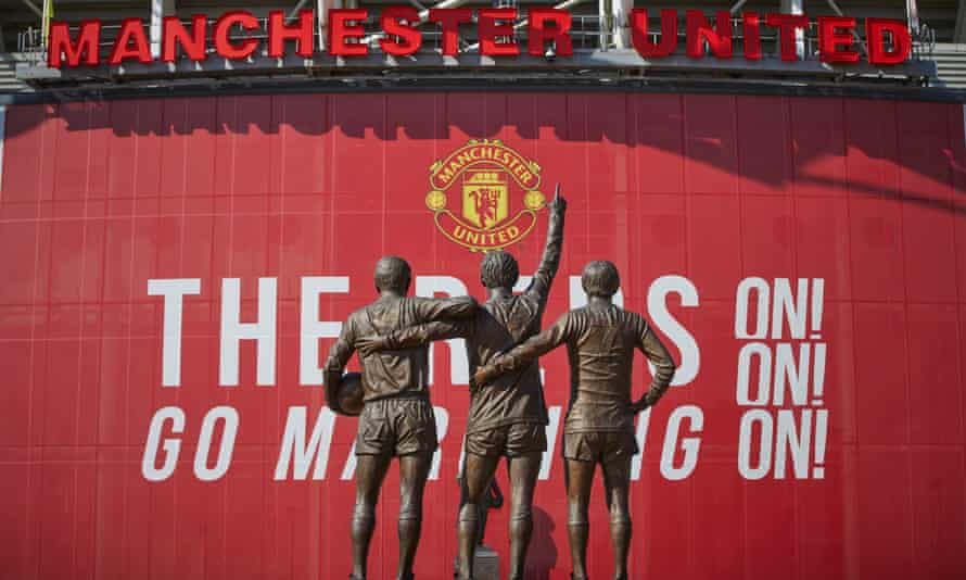 Statues outside Old Trafford