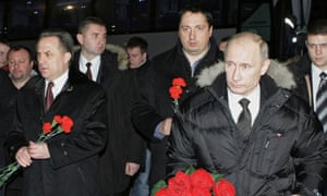 Alexander Shprygin, centre, pictured with Vitaly Mutko and Vladimir Putin in 2010.