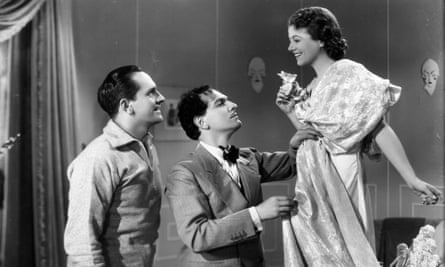 Fredric March, Joseph Schildkraut and Janet Gaynor in A Star Is Born (1937)