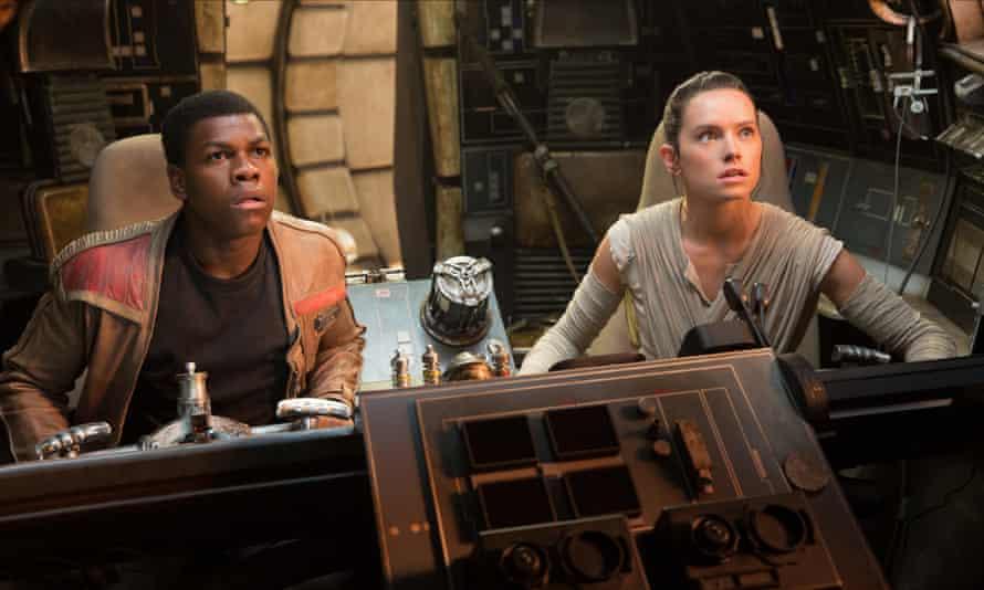 Actors John Boyega and Daisy Ridley in Star Wars: Episode VIII - The Last Jedi
