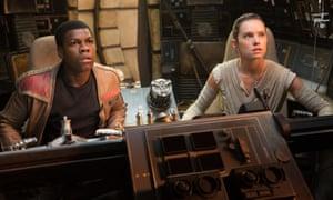 John Boyega and Daisy Ridley in Star Wars: The Last Jedi