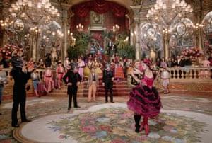 On the set of Franco Zeffirelli's version of opera La Traviata