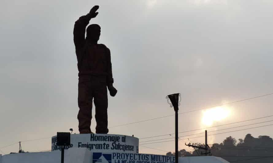 A monument honoring Xela's thousands of emigrants which was erected in 2012.