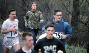 'I felt as though I was setting women free': Roberta Gibb at the 1967 Boston Marathon, running unofficially without a bib as women were not allowed to compete until 1972.