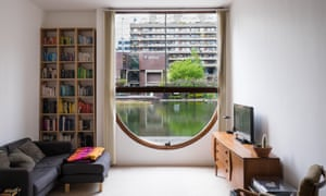 Window on to the Barbican: a view from one of the estate's 2,000 flats.