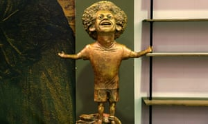 Mo Salah's statue in Sharm el-Sheikh.