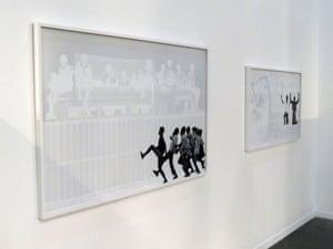 Photo taken at the Johannesburg Art Fair by Graeme Williams of Hank Willis Thomas's version of Williams' color original.