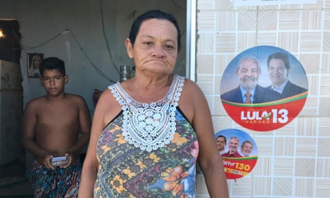 In Recife, Maria do Carmo da Silva said she would back Haddad, 'because he's from Lula's party' – despite knowing nothing of Haddad's background.